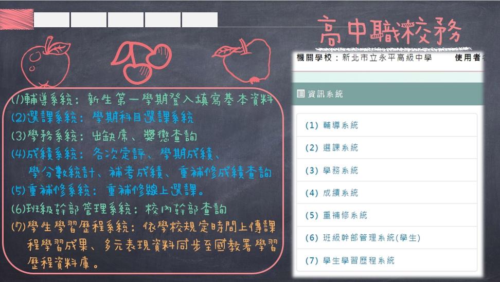 高中職校務各系統