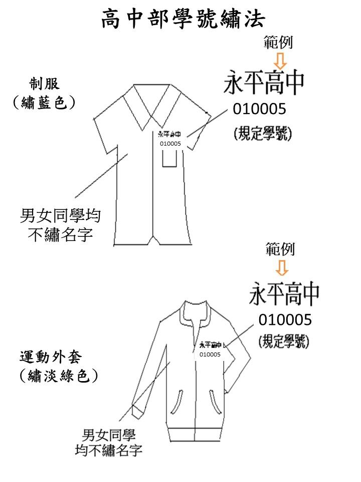 13-永平高中高中部學號繡法110